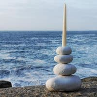 Pebble Candle Holders | Stone Candle Holder